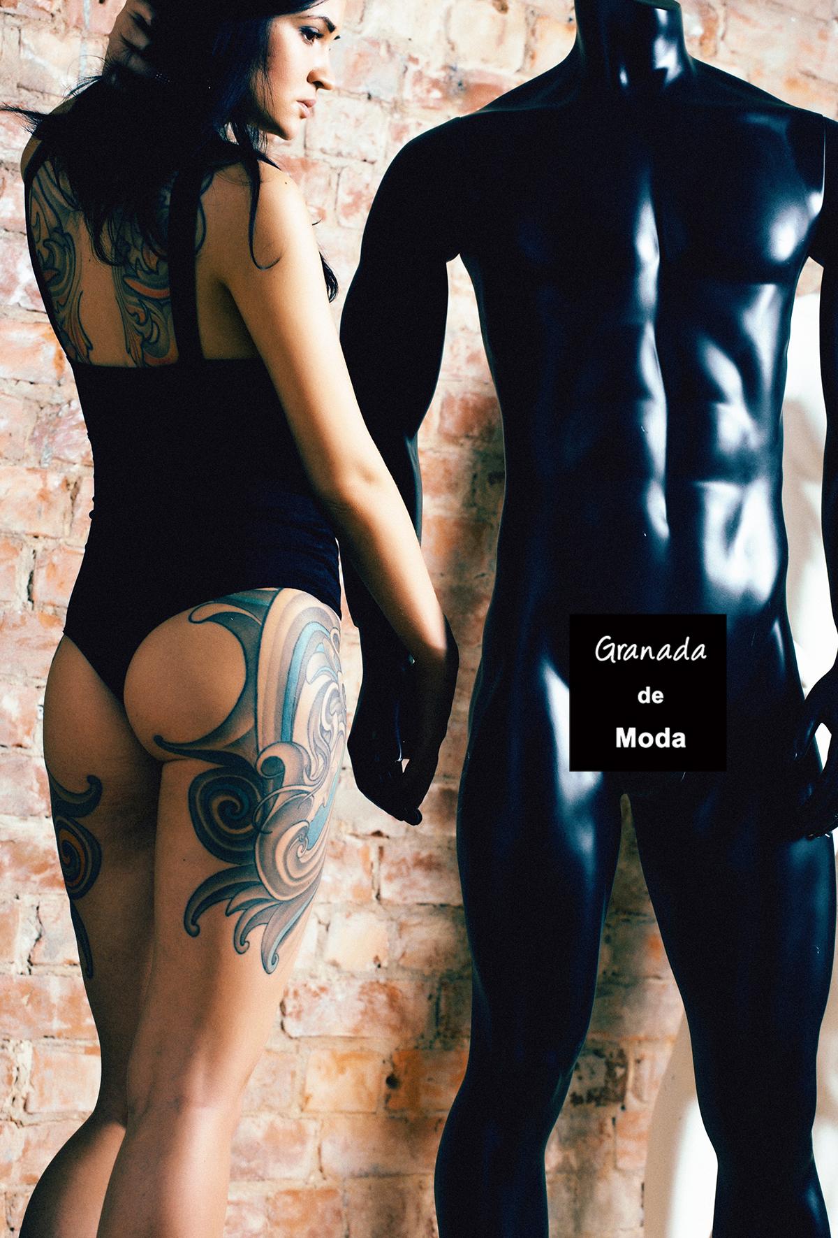 maniquí o modelo granada de moda